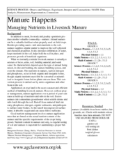 Manure Happens: Managing Nutrients in Livestock Manure Lesson Plan