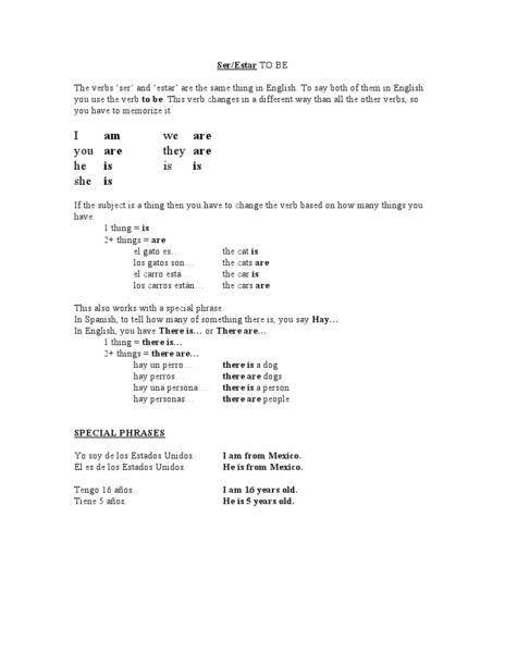 ser estar spanish practice worksheet for 6th 12th grade lesson planet. Black Bedroom Furniture Sets. Home Design Ideas