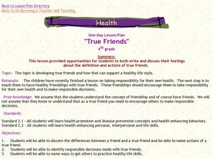 True Friends Lesson Plan