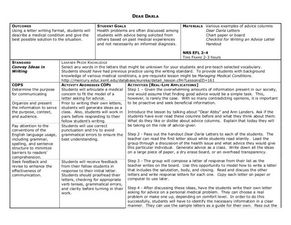 advice column lesson plan pdf
