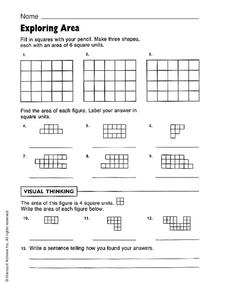 Exploring Area Worksheet