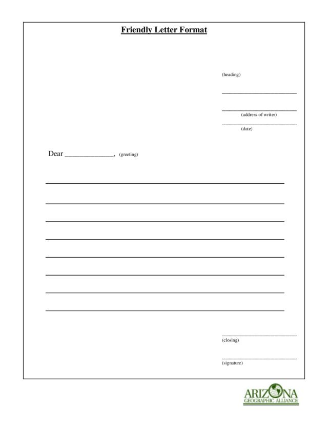 friendly letter format lesson plan friendly letter format worksheet for 4th 6th grade 13848