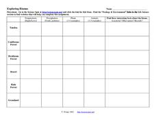 Exploring Biomes Worksheet