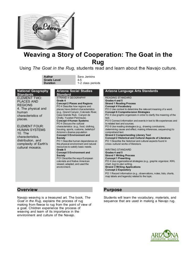 The Goat in the Rug Lesson Plan