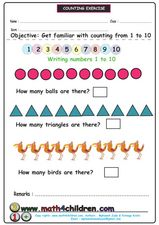Counting: 1 - 10 Worksheet