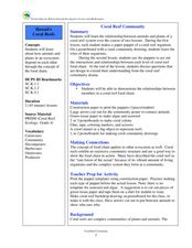 Coral Reef Community Lesson Plan