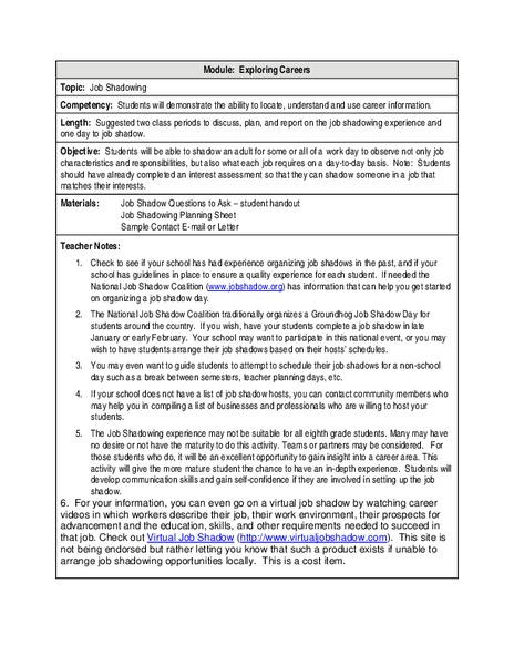 Job Readiness For Adults Lesson Plans Worksheets