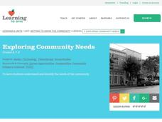 Exploring Community Needs Lesson Plan