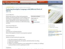 Exploring Descriptive Language With Different Parts of Speech Lesson Plan