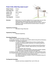 Wind Turbines Lesson Plan