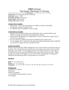 The Energy that Keeps Us Moving Lesson Plan
