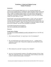 feudalism a social and political system worksheet for 6th 10th grade lesson planet. Black Bedroom Furniture Sets. Home Design Ideas