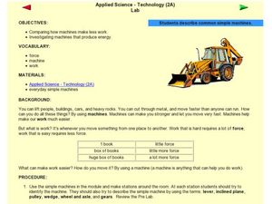 Applied Science - Technology (2A) Lab Lesson Plan