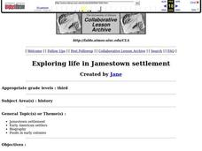 Exploring Life in Jamestown Settlement Lesson Plan