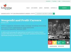 Exploring Nonprofit Careers Lesson Plan