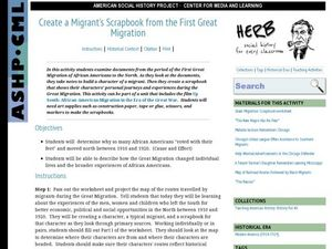 Create a Migrant's Scrapbook from the First Great Migration Lesson Plan