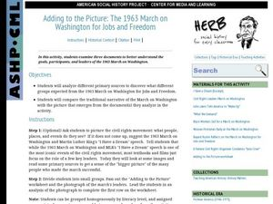 Adding to the Picture: The 1963 March on Washington Lesson Plan