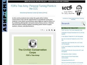FDR's Tree Army: Personal Turning Points in the CCC Lesson Plan