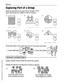 Exploring Part of a Group Worksheet