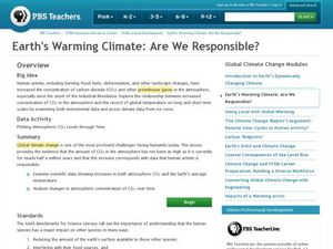 Earth's Warming Climate: Are We Responsible Lesson Plan
