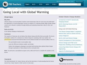 Going Local with Global Warming Lesson Plan