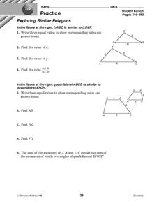 Exploring Similar Polygons Worksheet