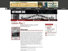 Exploring the History of Oil Lesson Plan