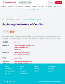 Exploring the Nature of Conflict Lesson Plan
