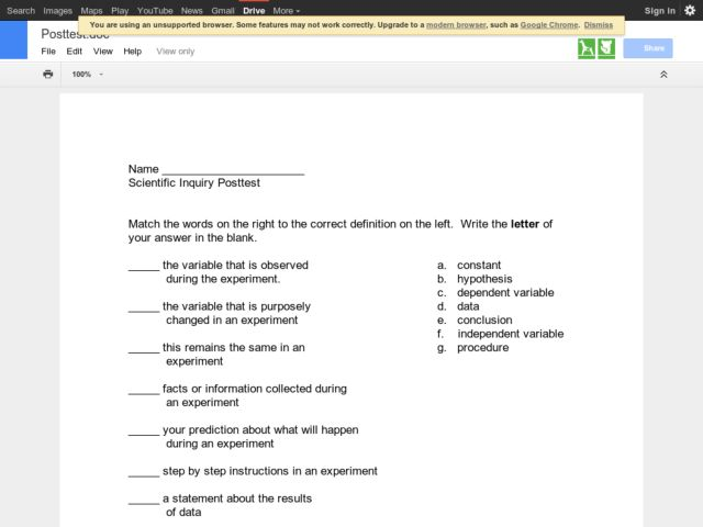Scientific Inquiry Lesson Plans Worksheets Lesson Planet