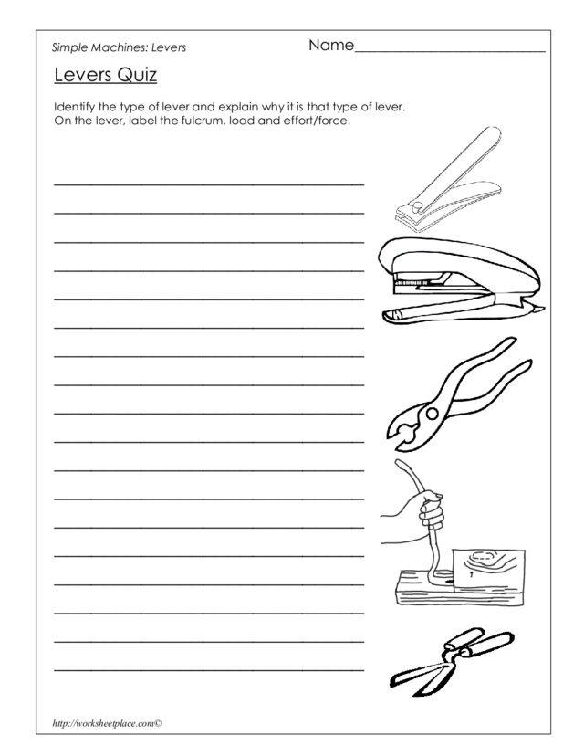 Worksheet On Levers The Best and Most Comprehensive Worksheets – Types of Levers Worksheet