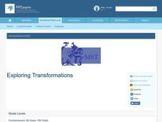 Exploring Transformations Lesson Plan