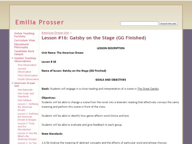 The American Dream: Gatsby on the Stage Lesson Plan