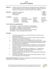 Legislation Lesson Plan
