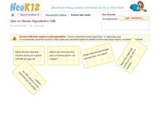 Human Reproductive Cells Quiz Interactive