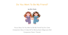 Do You Want to Be My Friend? Lesson Plan