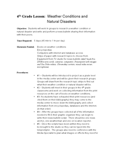 Weather Conditions and Natural Disasters Lesson Plan