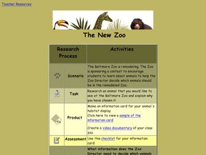The New Zoo Lesson Plan