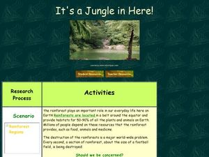 It's A Jungle in Here! Lesson Plan