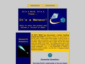 It's A Meteor Lesson Plan