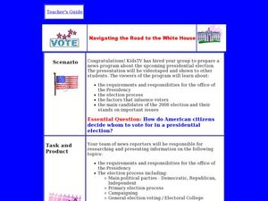 Navigating the Road to the White House Lesson Plan