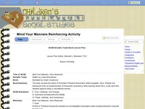 Mind Your Manners Reinforcing Activity Lesson Plan