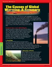 The Causes of Global Warming: A Summary Worksheet