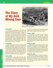 My Diary of My Gold Mining Days Worksheet