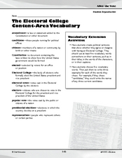 The Electoral College Activities Graphic Organizer