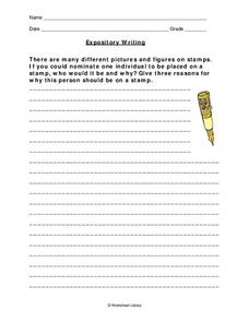 Expository Writing Worksheet