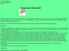 Express Yourself Lesson Plan
