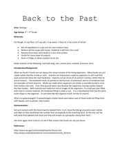 Back to the Past Lesson Plan