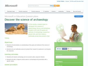 Discover the science of archaeology Lesson Plan