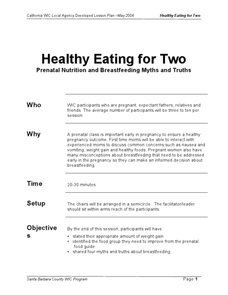 Myths and Truths about Breastfeeding