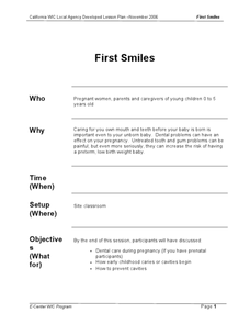 First Smiles Lesson Plan